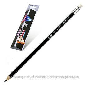 Набор чернографитных карандашей MARCO Grip-Rite НВ треугольный с ластиком 12шт (9001EM)
