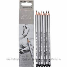 Набор чернографитных карандашей MARCO Raffine 6шт НВ-8В (7000DM)