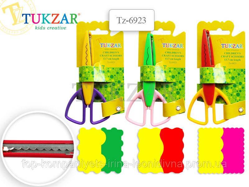 Ножницы для скрапбукинга TUKZAR, 13,7см, цветное ассорти (12шт/уп)