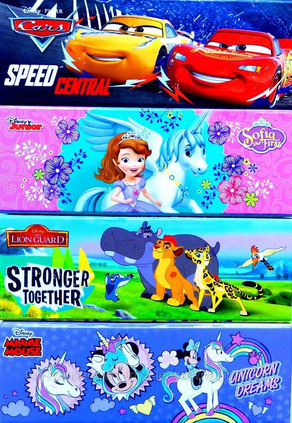 Пенал шкільний ТЕТРАДА DISNEY на магніті з кишенею 4 дизайну (ТЕ1277)