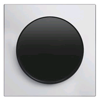 Выключатель 1-клавишный универсальный (с 2-х мест) Berker R.3 черный/алюминий полярная белизна