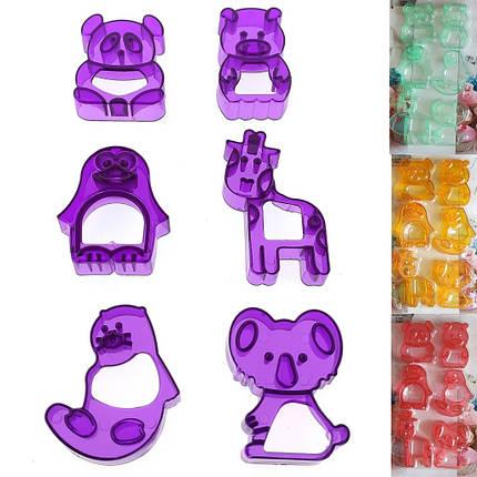 """Формочки для печенья из 6-ти штук """"Мишка"""" h1.5см, фото 2"""