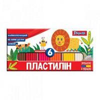 """Пластилін 1Вересня """"Zoo Land"""", 6 кол., 120г, Україна"""