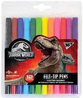"""Фломастеры YES 12 цветов """"Jurassic World"""""""