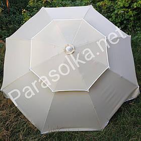 Зонт торговий пляжний бежевий 2,4 метри