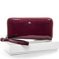 Женский кожаный кошелек на 1 молнии 19*9,5*2 5 фиолетовый, фото 1