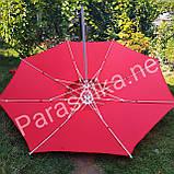 Зонт торговий пляжний червоний 2,4 метри, фото 6