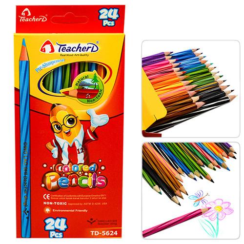 "Карандаши 24цв RED ""TeacherD"" ST00389 (120наб)"