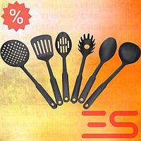 NEW! Набір кухонних половников лопаток прилади для кухні тефлонові шумівки ES Hot!