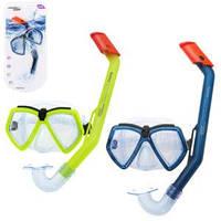 BW Набор для плавания 24027 (6шт) маска, трубка, 2цвета,