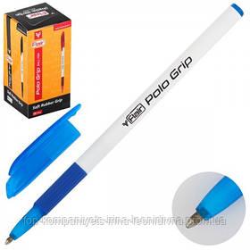 Ручка шариковая FLAIR Polo Grip с резиновым гриппом синяя (1310)