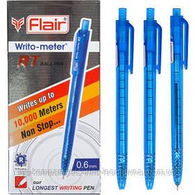 Ручка шариковая автоматическая FLAIR Writo-meter RT ball  10км синяя (73744)