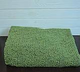 Жакардовий чохол на диван і два крісла Дивандек універсальний без спідниці Колір Зелений, фото 2