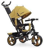 Велосипед M 3113-24 (1шт)три кол. EVA (12/10),колясочний,швидкознімання.к.,гальма,подшипн.,горчичн