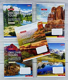 Зошит 48 аркушів в клітинку Discover tours-21 765462` 32128Ф 1 вересня Україна