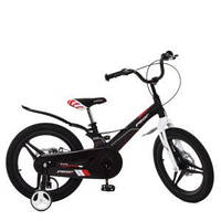 Велосипед детский 18д. LMG18235 (1шт) Hunter,магнез.рама,вилка,кол.,диск.торм.,черн,зв,доп.кол