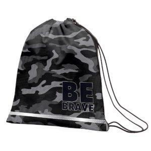 """Сумка для взуття SMART SB-01 """"Be Brave!"""", чорний"""