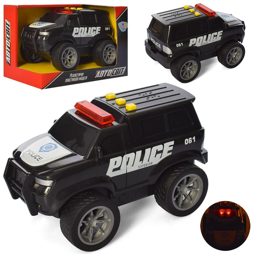 Машина AS-2780 (36шт) АвтоСвіт, полиция, 18,5см, рез.кол, звук, свет, бат-таб, в кор-ке, 20-13-11см