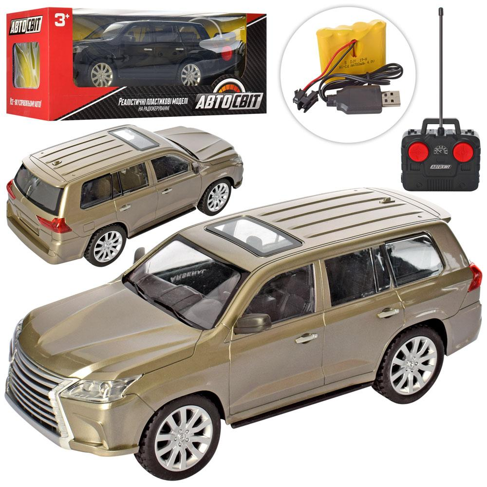 Машина AS-1834-1 (9шт) АвтоСвіт,р/у, аккум, 33см, гум.кількість, світло,USBзар, 2цвета,в кор-ке,46-19-18см