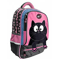 """Рюкзак YES S-59 """"Meow"""", чорний/рожевий"""