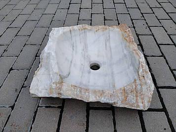 Эксклюзивная раковина из белого мрамора .