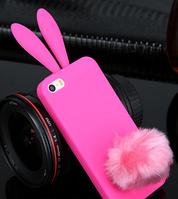 Розовый силиконовый чехол зайчик iphone 4/4S