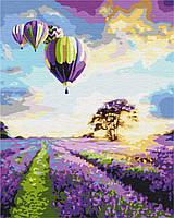 Картина по номерам рисование Brushme BS043 Полет над лавандовым полем