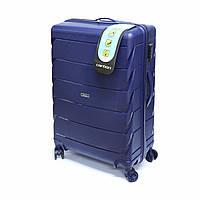 Большой пластиковый чемодан Carbon 105 л, синий, фото 1