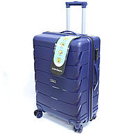 Мала валіза пластикова Carbon на 37 л, синя, фото 1