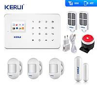Комплект бездротової gsm сигналізації датчики нового зразка для 2-кімнатної квартири Kerui G18