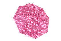 Полегшений зонт жіночий напівавтомат рожевий Арт.1633-5 Grimaldi (Китай)