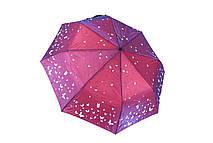 Жіночий напівавтомат парасолька рожевий Арт.606-5 Flagman (Китай)