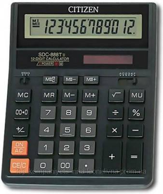 Калькулятор електронний CITIZEN 12-розрядний чорний (SDC-888 TII)