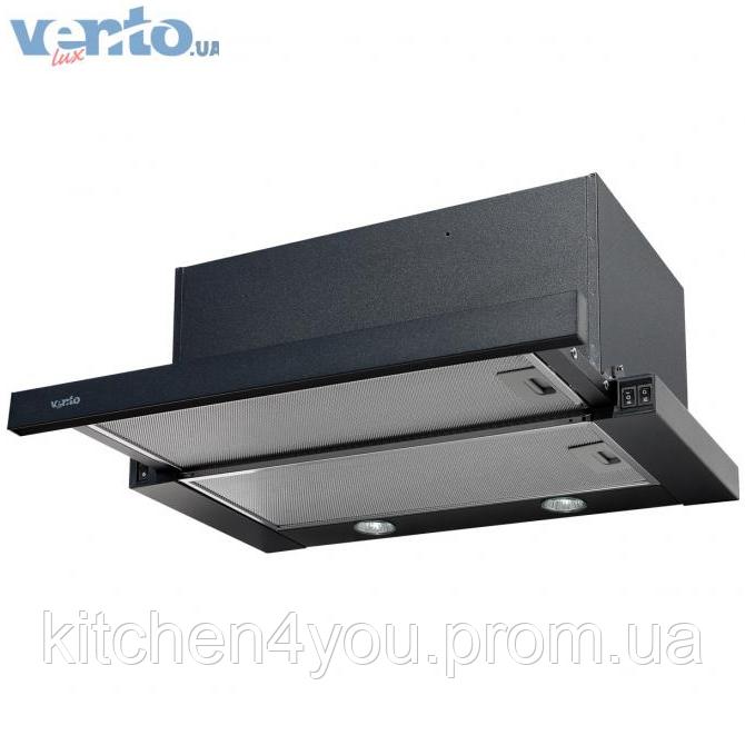 Ventolux Garda 60 BK (1000) EU вбудована, телескопічна кухонна витяжка, чорна емаль