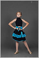 Костюм для танцев, юбка латина для девочки «Каламбур с гипюром»
