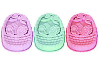 Форма для кексів силіконова пасхальна кошик з яйцями, 170 грам