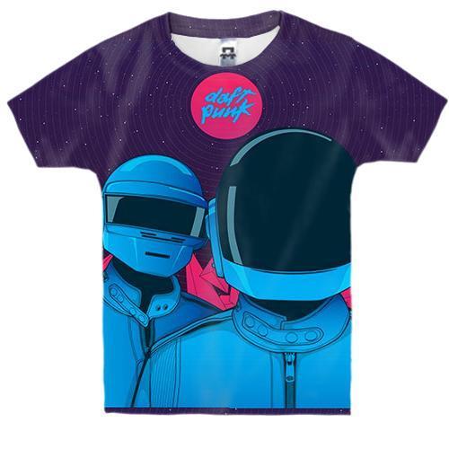 Дитяча 3D футболка з Daft Punk (арт)