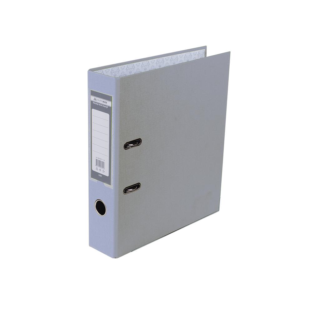 Оптовий Набір: Папка реєстратор LUX одностороння JOBMAX A4, 50 мм, сіра, 10 шт. + Календар