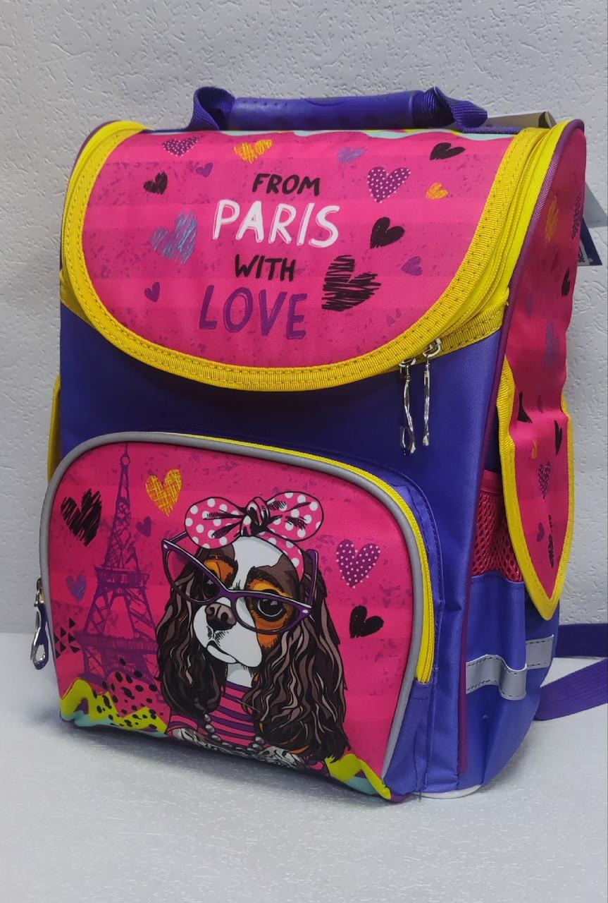 Рюкзак школьный с ортопедической спинкой для девочки