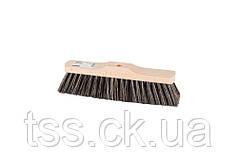 Щетка для пола MASTERTOOL 280х55х80 мм конский волос деревянная без ручки 14-6341