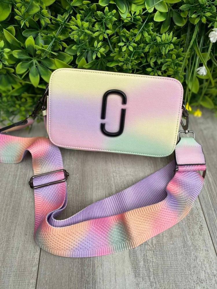 Женская сумка-клатч через плечо Marc Jacobs Snapshot Camera Bag Airbrushed multicolored