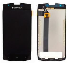 Дисплей (екран) для Blackview BV7000 з сенсором (тачскріном) черный Оригінал