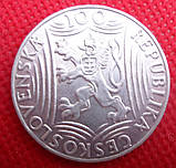 Чехословакий 100 крон 1949 рік срібло 70 років Сталіну №160, фото 2