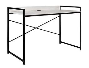 Компьютерный стол Oxford ножки черные столешница ДСП Белая (Новый Стиль ТМ)