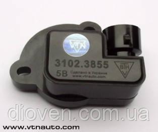 Датчик положення дросельної заслінки Chevrolet Aveo, Daewoo Lanos, Matiz, Sens (пр-во ВТН) (Арт. 3102.3855