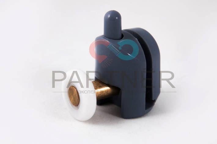 Ролік для душової кабіни, одинарний, пластиковийз кнопкоюмодель СУ-901down\верхній. діаметр колеса19 мм., фото 2
