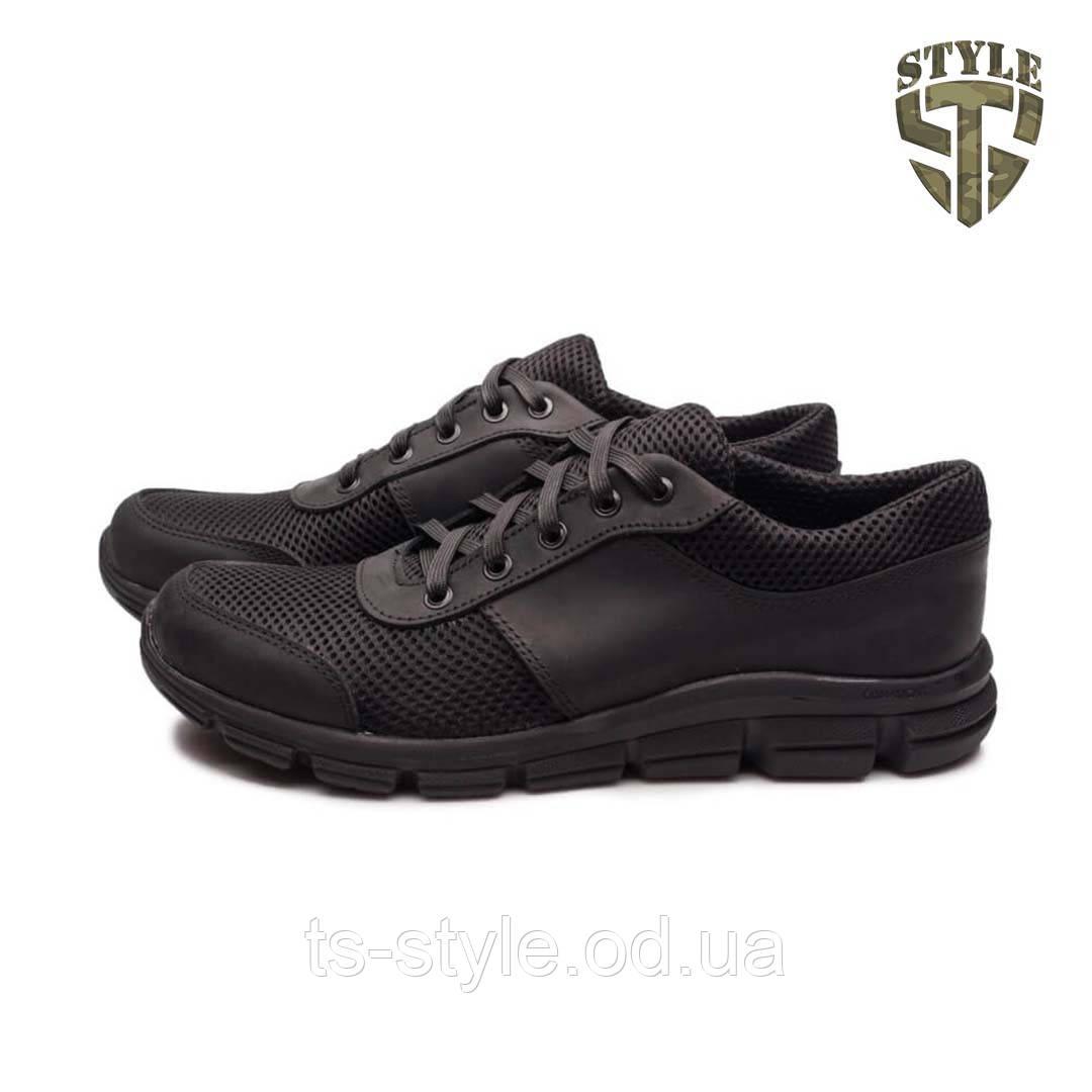 Кросівки літні 20-01 з сіткою колір чорні