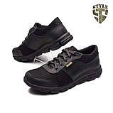 Кросівки літні 20-01 з сіткою колір чорні, фото 2
