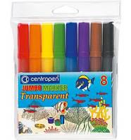 Фломастери 8 кольорів Jumbo Transparent Cen-8580/8