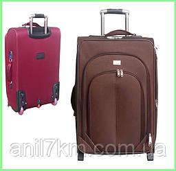 Средний чемодан на силиконовых колёсах